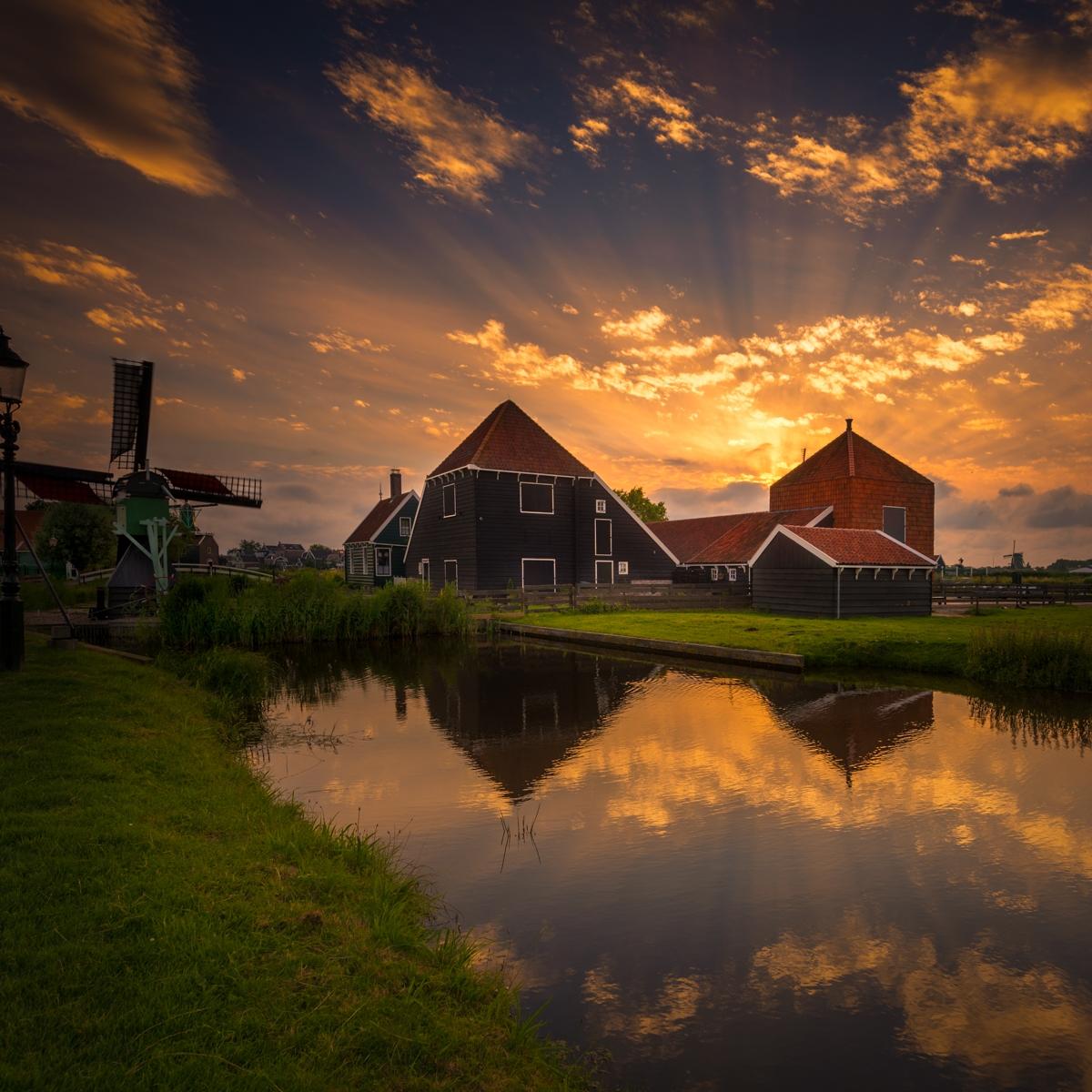 Zaanse Schans boerderij en molen