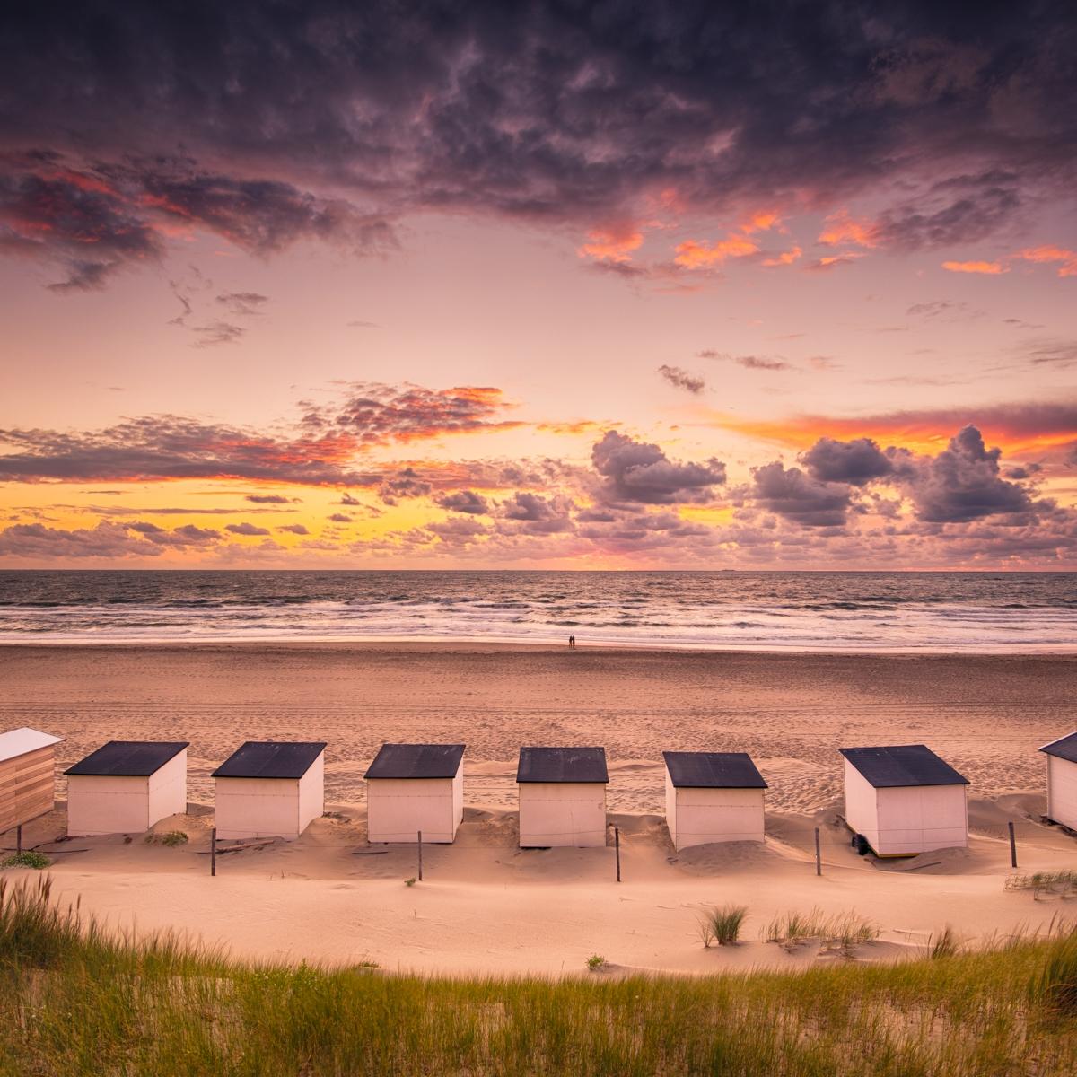 Strand van Texel Zonsondergang
